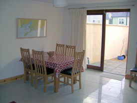 Dining area, table extends to seat 8